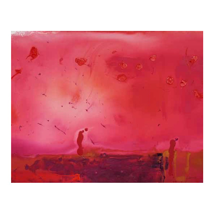 Helen Frankenthaler  Red Shift,  1990 Acrylic on canvas 60 x 70 inches (152.4 x 193 cm)