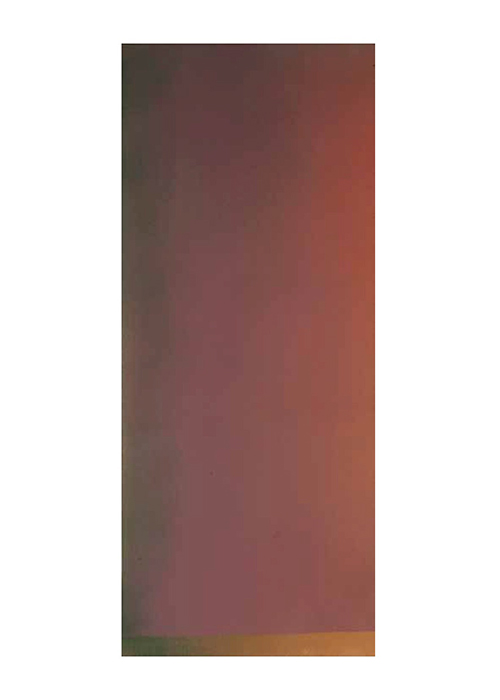 Jules Olitski  Implications,  1966  Acrylic on canvas 116 x 48 inches  (294.6 x 121.9 cm)
