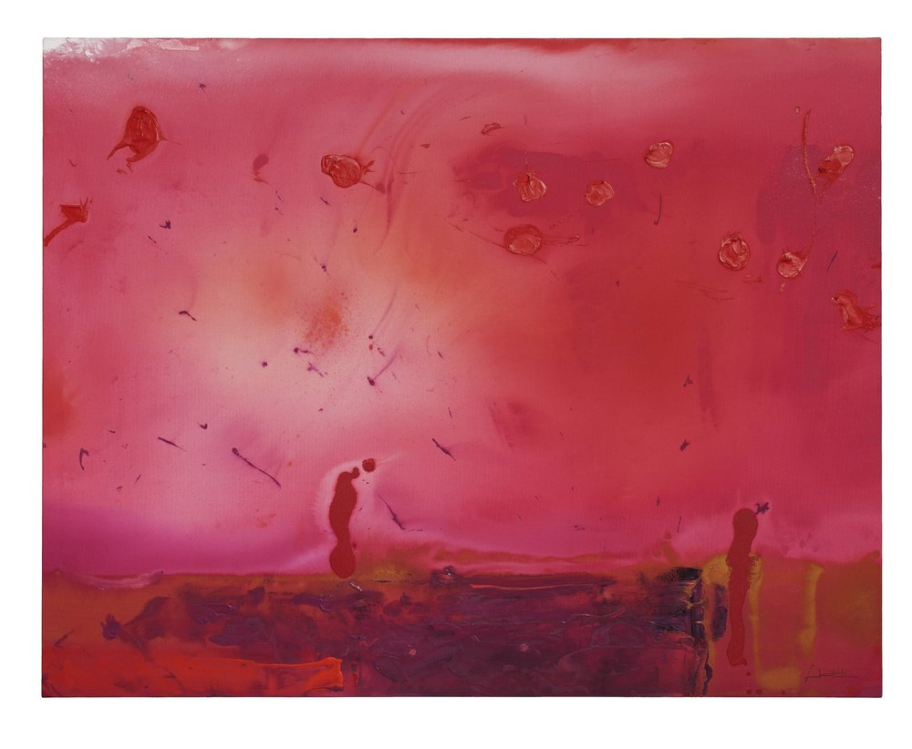 Helen Frankenthaler   Red Shift,  1990 acrylic on canvas 60 x 76 inches (152.4 x 193 cm)