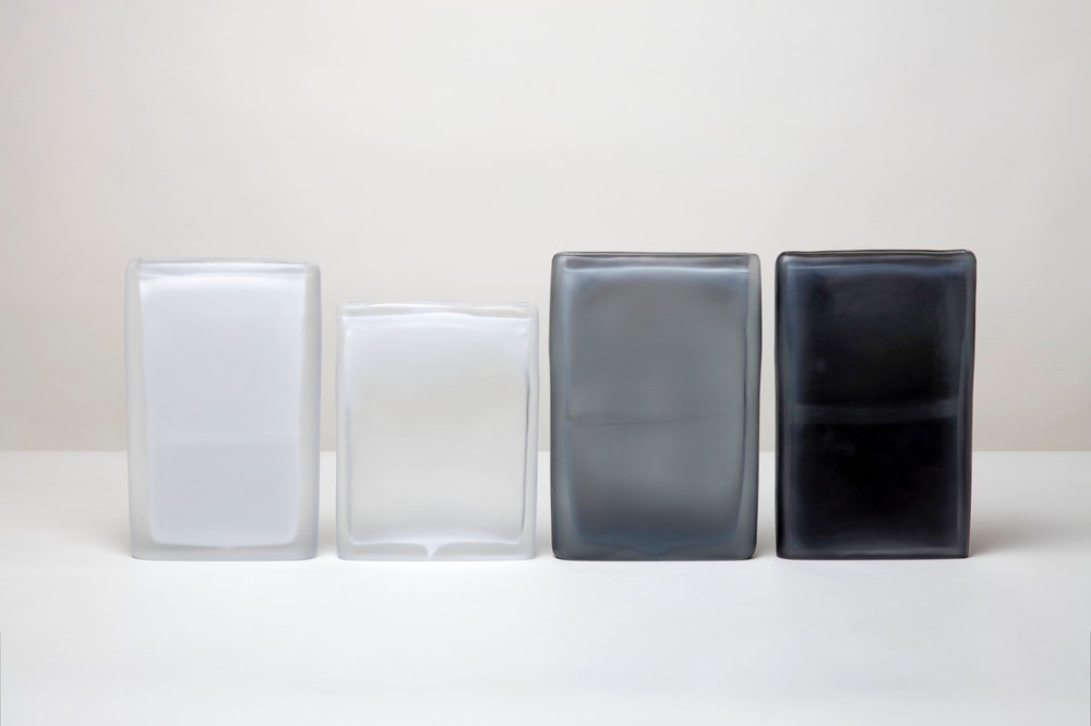 Laura de Santillana  Quartet I, 2, 3, & 4 , 2018 hand blown compressed shaped glass