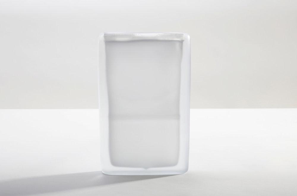 Laura de Santillana Quartet 1, 2018 hand blown compressed shaped glass 12 3/4 x 8 1/4 x 2 1/8 inches (32.5 x 21 x 5.5 cm)