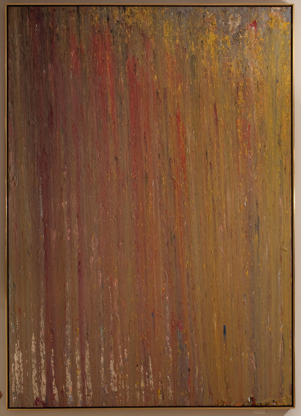 Larry Poons   Untitled , 1974 acrylic on canvas 81 1/2 x 57 1/2 inches (207 x 146 cm)
