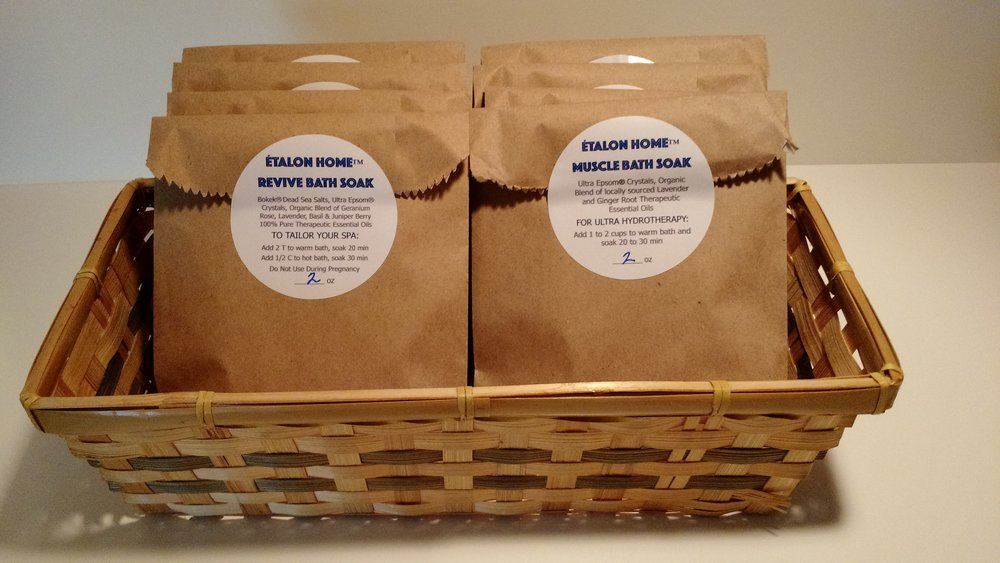 Trial Size - Revive Bath SoakPrice:  2oz Bag $4.00Muscle Bath SoakPrice:  2oz Bag $4.00