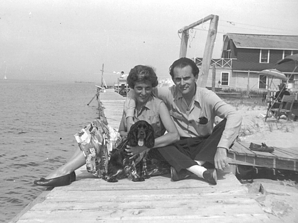 Gaby Feuchtwanger and Peter Fisher on Fire Island, NY, circa 1948