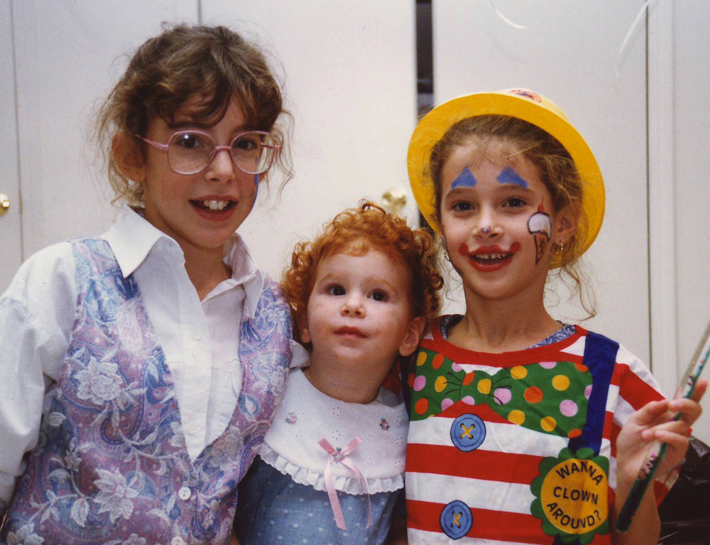 Jennifer, Emily and Amy; basement birthday party in Manalapan, NJ 1991