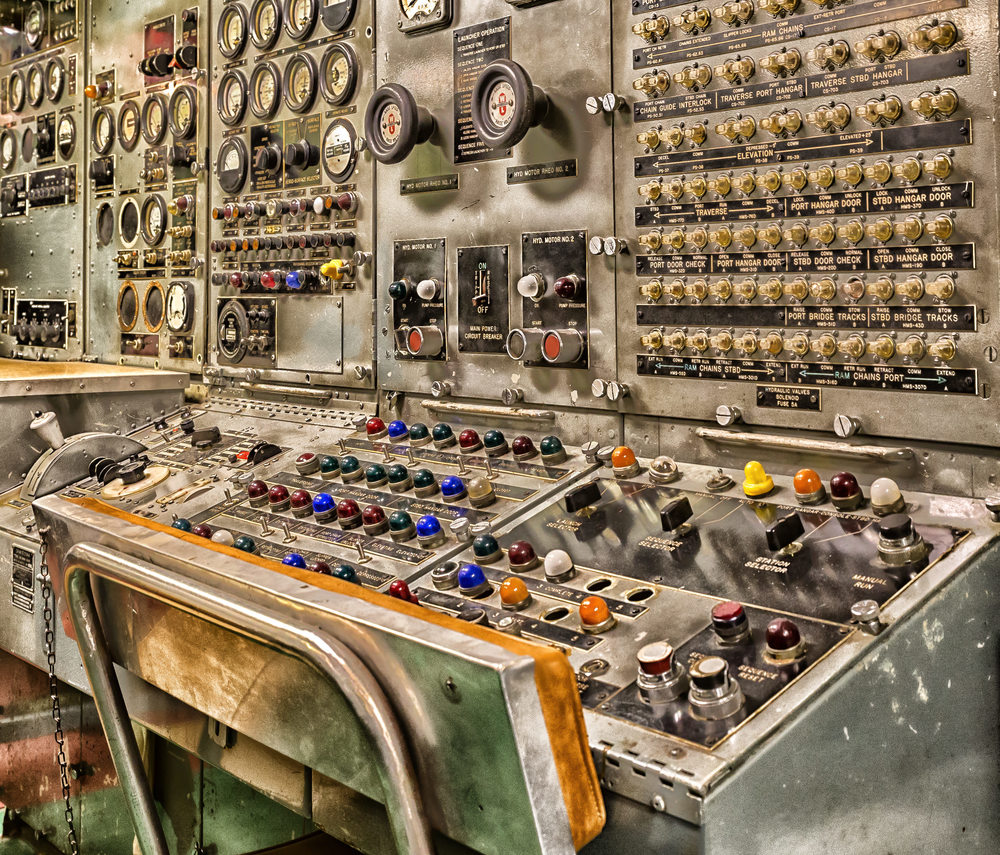 Former USS Growler submarine missile control center