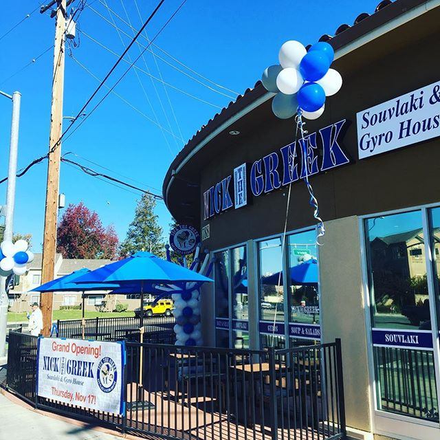 Nick the Greek King Road Grand Opening today at 11am. Come by 788 N King Rd and feed the family for FREE!!!!!! #gyros #greekfood #nickthegreek