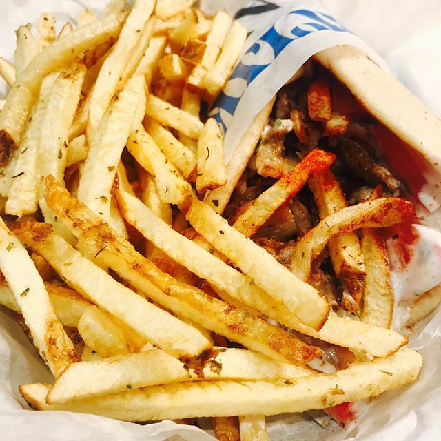 #gyros #nickthegreek #porkgyro #pita #fries #bayareaeats