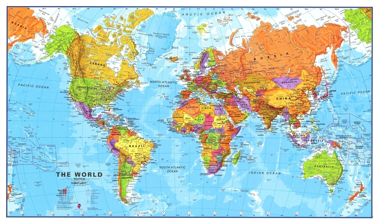 Contact Truth Is Relative Perception Defines It - Official world map