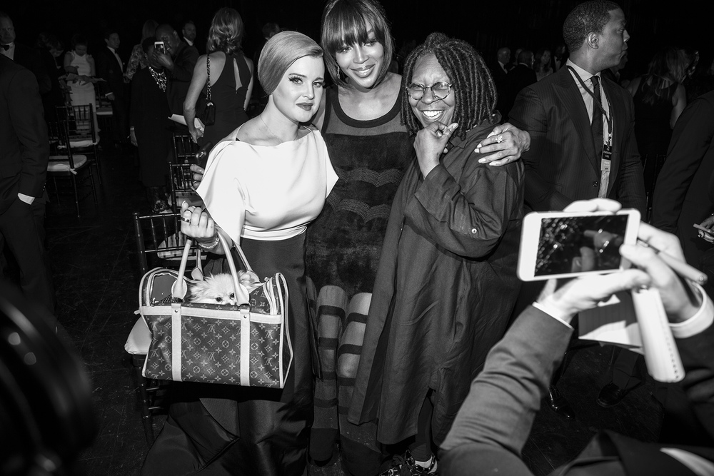 Kelly Osborne, Naomi Campbell and Whoopi Goldberg