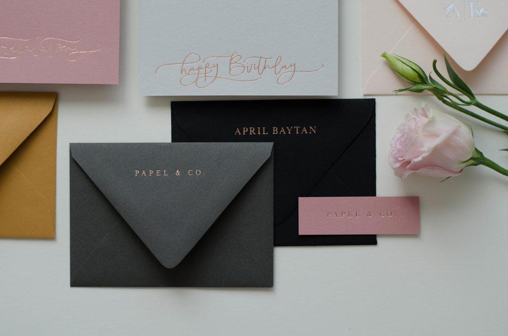 Foil Pressed Happy Birthday Cards Envelopes P A P E L Co