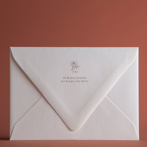 Classic Rose Invitation Envelopes P A P E L Co