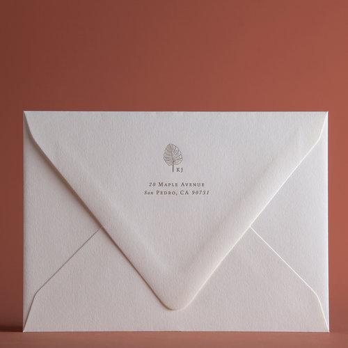 classic tropical invitation envelopes p a p e l co