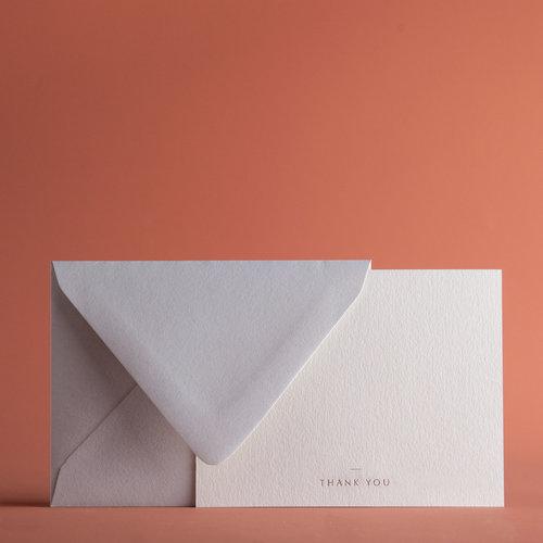 Minimal Thank You Cards Envelopes P A P E L Co