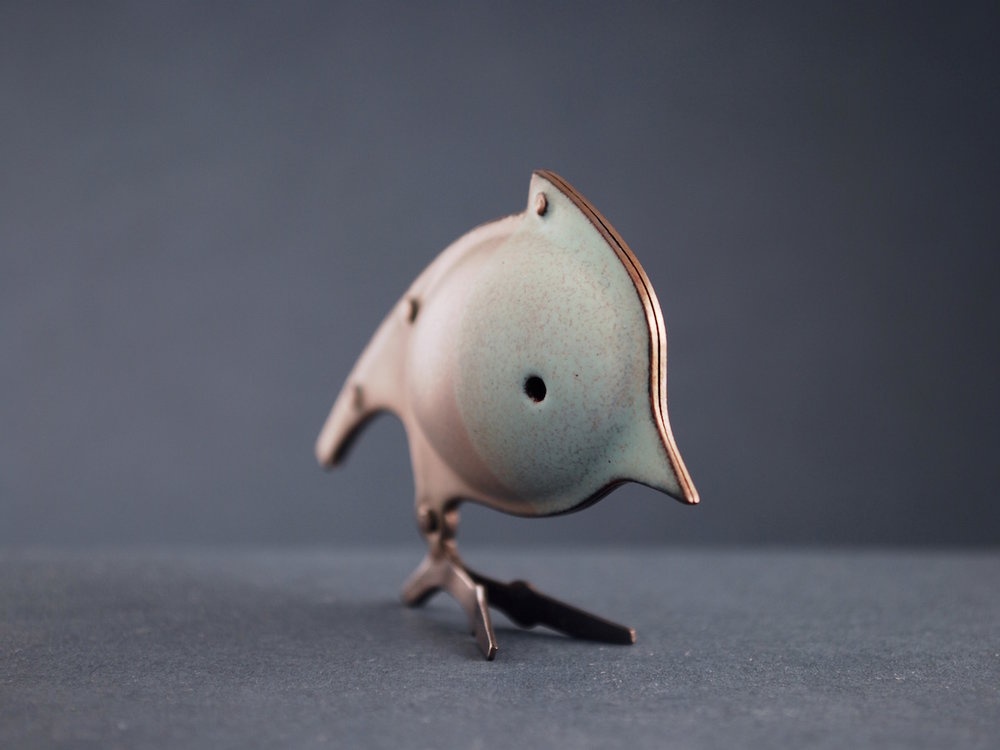 soft blue bird