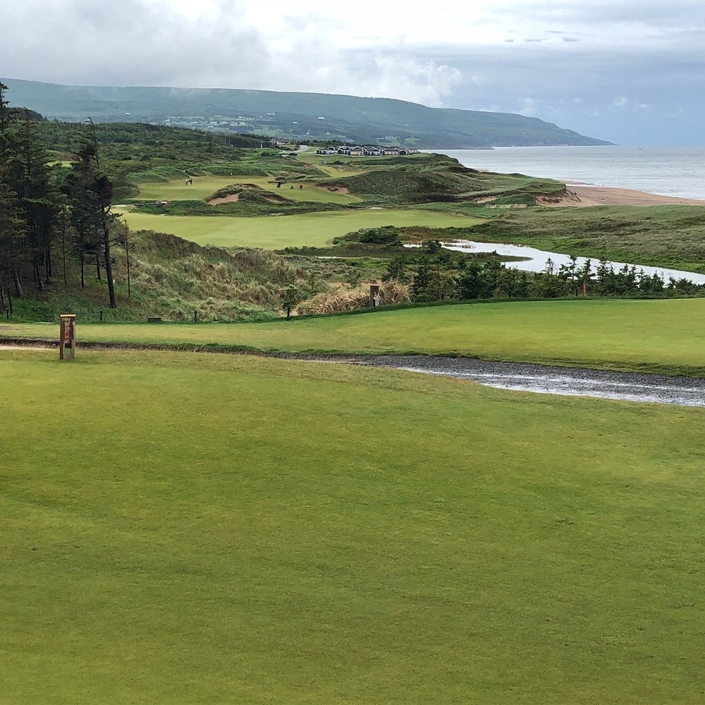 Hole No. 12 looking south on Cabot Cliffs