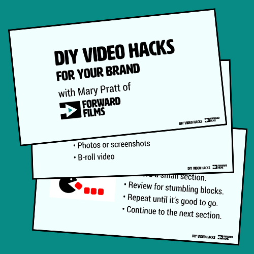 DIY Video Hacks for Your Brand slides