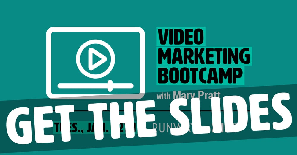 Get Forward Films' Video Marketing Bootcamp slides
