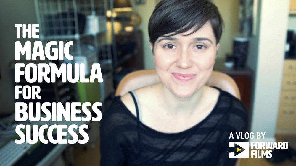 New vlog: The magic formula for business success
