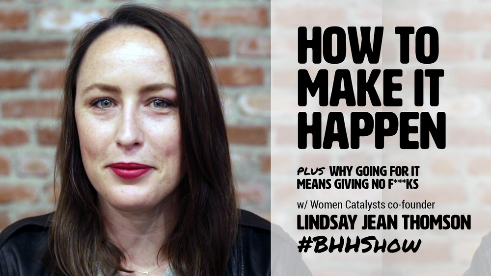 How to follow your passion with Lindsay Jean Thomson