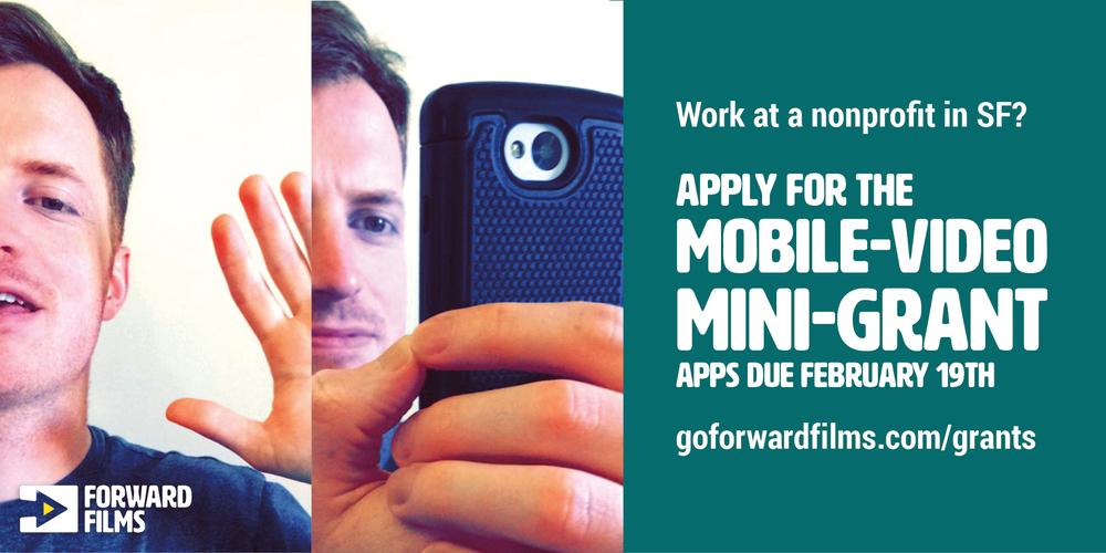 Mobile-video mini-grant by Forward Films for San Francisco nonprofits