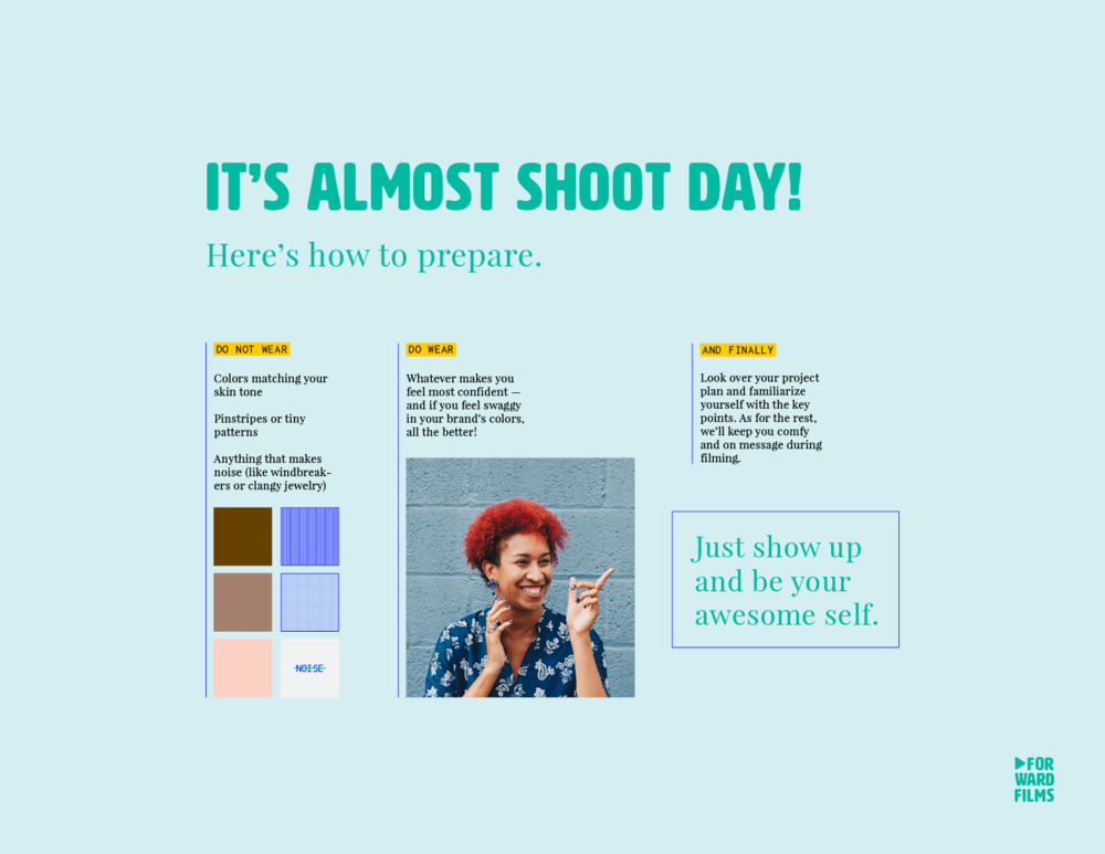 Our easy guide on prepping for your shoot
