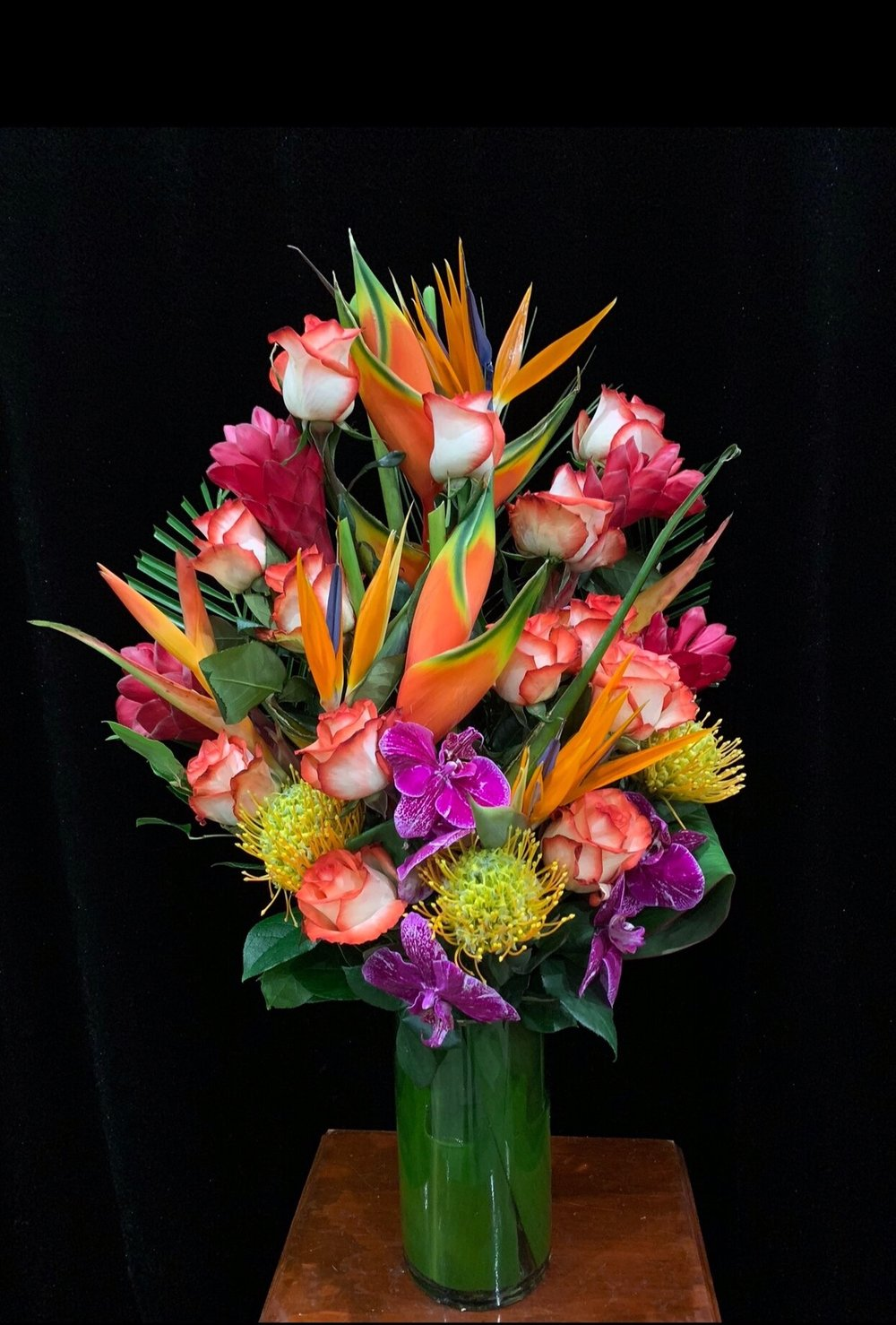 C8 heliconia pink ginger green anthuriums yellow calla lilies c8 heliconia pink ginger green anthuriums yellow calla lilies pincushions magenta phalaenopsis orchids one faced mightylinksfo