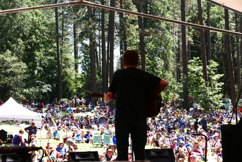 Tim O'brien at the Sunday Revival, Strawberry Music Festival, Spring 2016, Grass Valley, CA.  Photo: Gregg McVicar