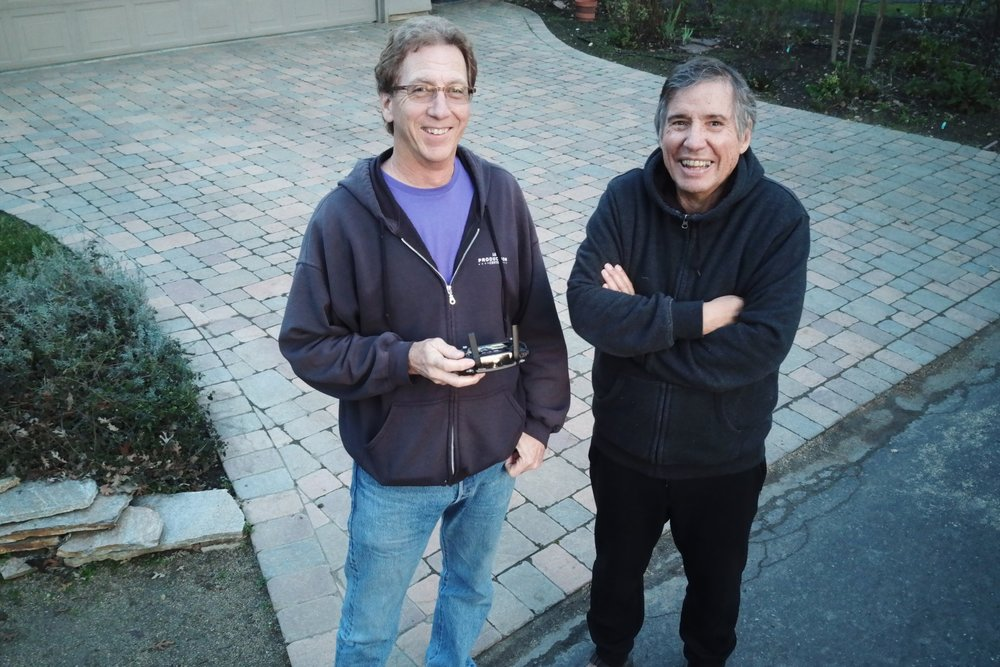 Skip Spragens & Gregg McVicar captured in drone photo.