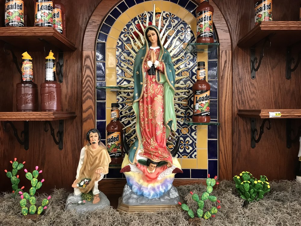 Bloody Mary Mix shrine at Mi Pueblo Food Center.   Photo:  Gregg McVicar