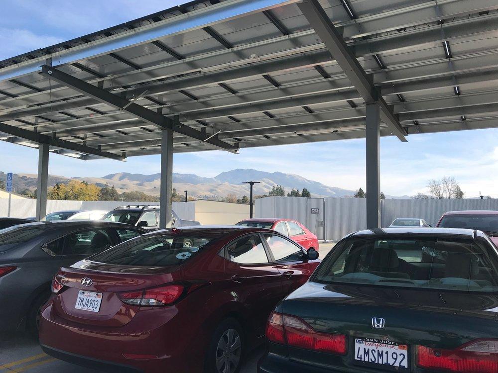 Photo: Gregg McVicar ~ Solar parking shade