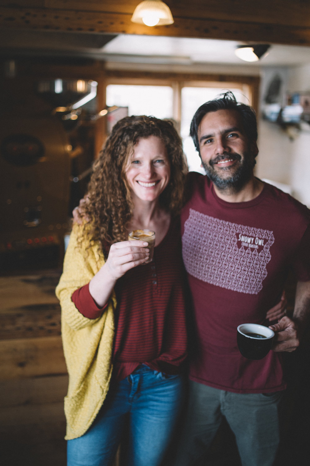 shayna and manuel co owners of snowy owl coffee