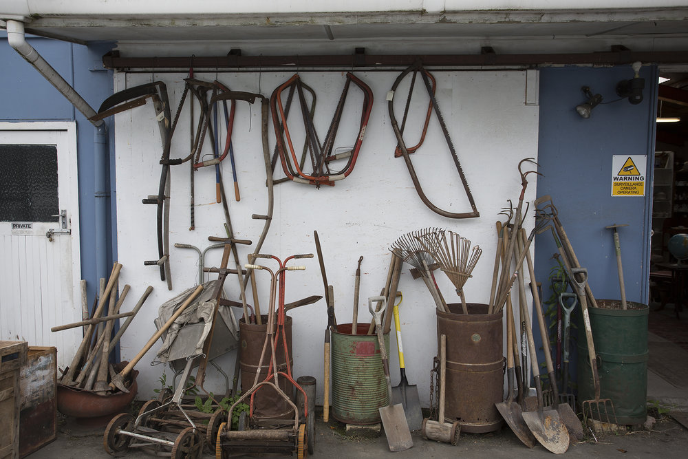 Imagine totalling up the combined hours of labour that these tools were used for. It makes me think about the young boy pushing the hand mow up a long driveway on a sunny Nelson day in the 1970s.