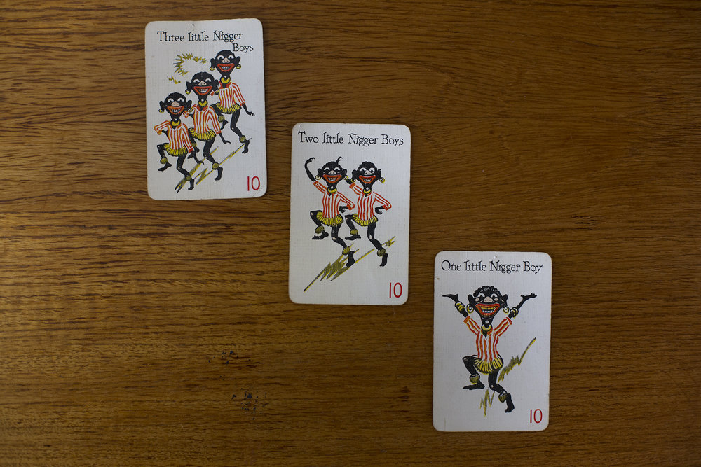 """Nigger Boy"" playing cards from the 1940s"