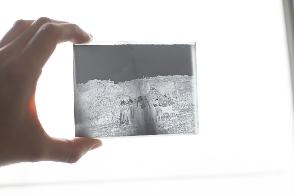 Photographic glass plates were an early photography process which were around before film in the early twentieth century. They were made using silver nitrate printed onto glass in the back of camera.