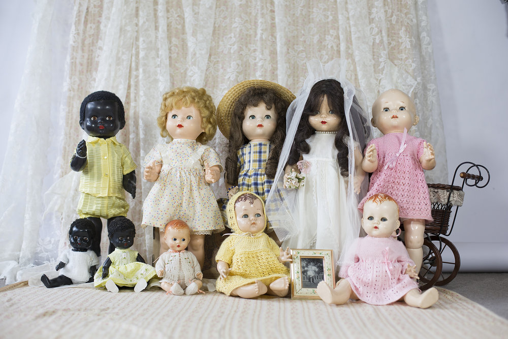 Pedigree dolls in three sizes, made in New Zealand.