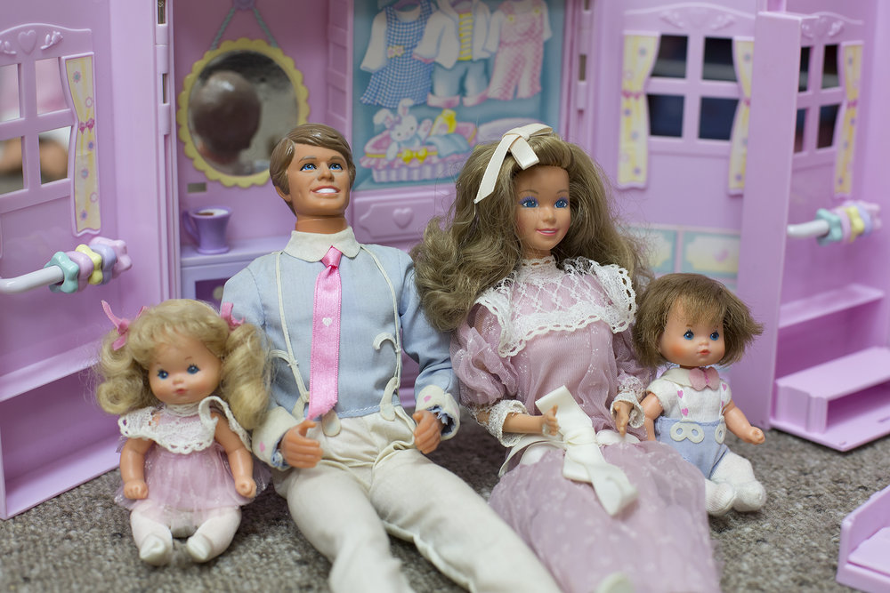 The  Heart Family  dolls by Mattel 1985. As a little girl I remember playing with my own Heart Family dolls.