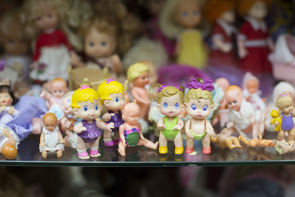 Getting in close with some of the smallest dolls of Judith's collection