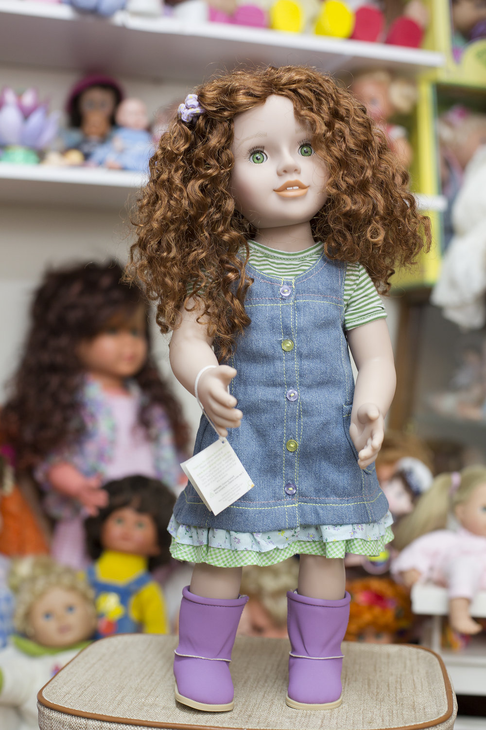 """Matilda Australian girl 20"""" inches given to Judith by her daughter for her 60th birthday."""