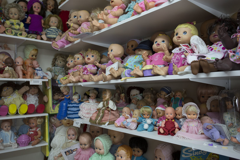 Judith's doll collection is doll lovers dream.