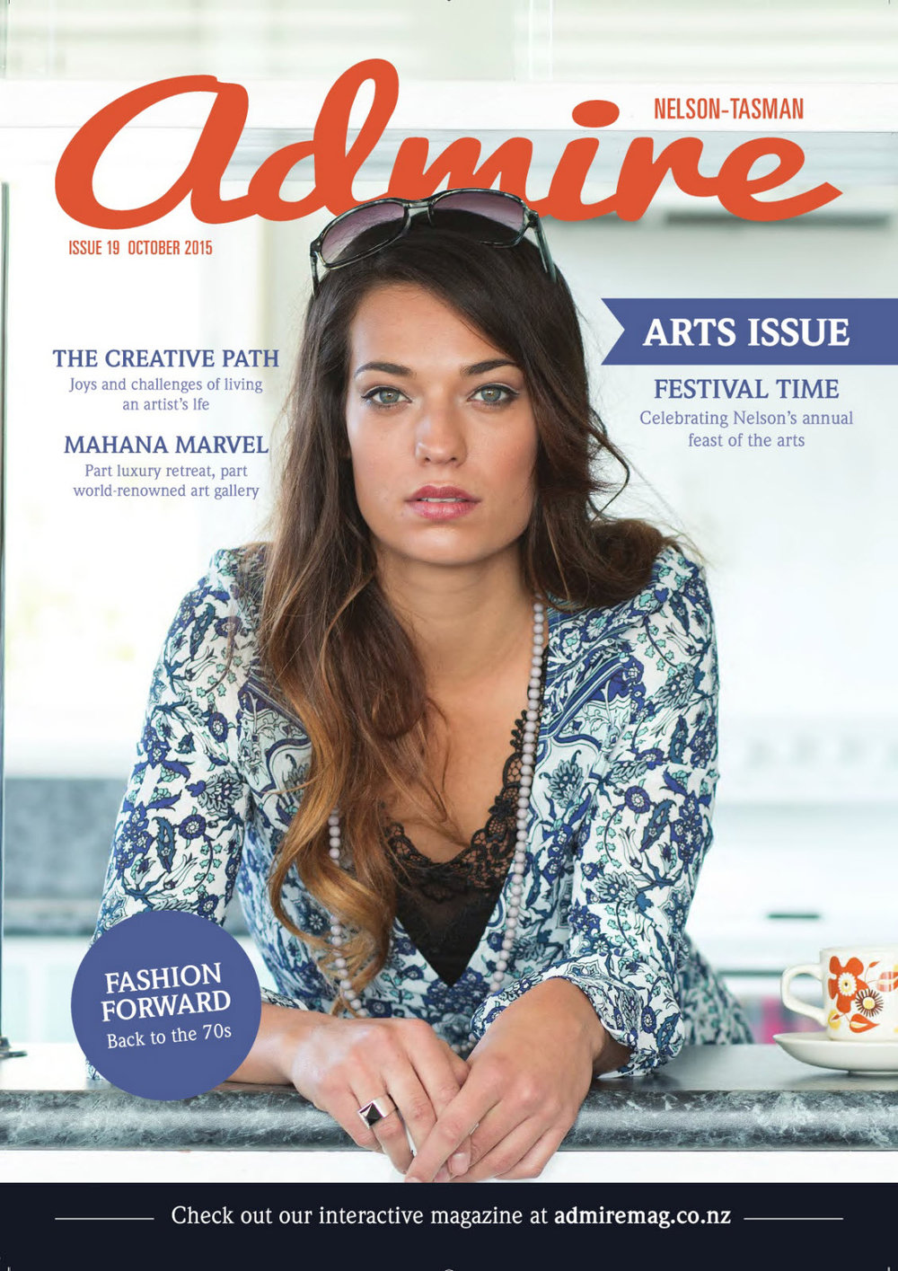 October 2015 - Model: Holly Parkes. Our first cover!