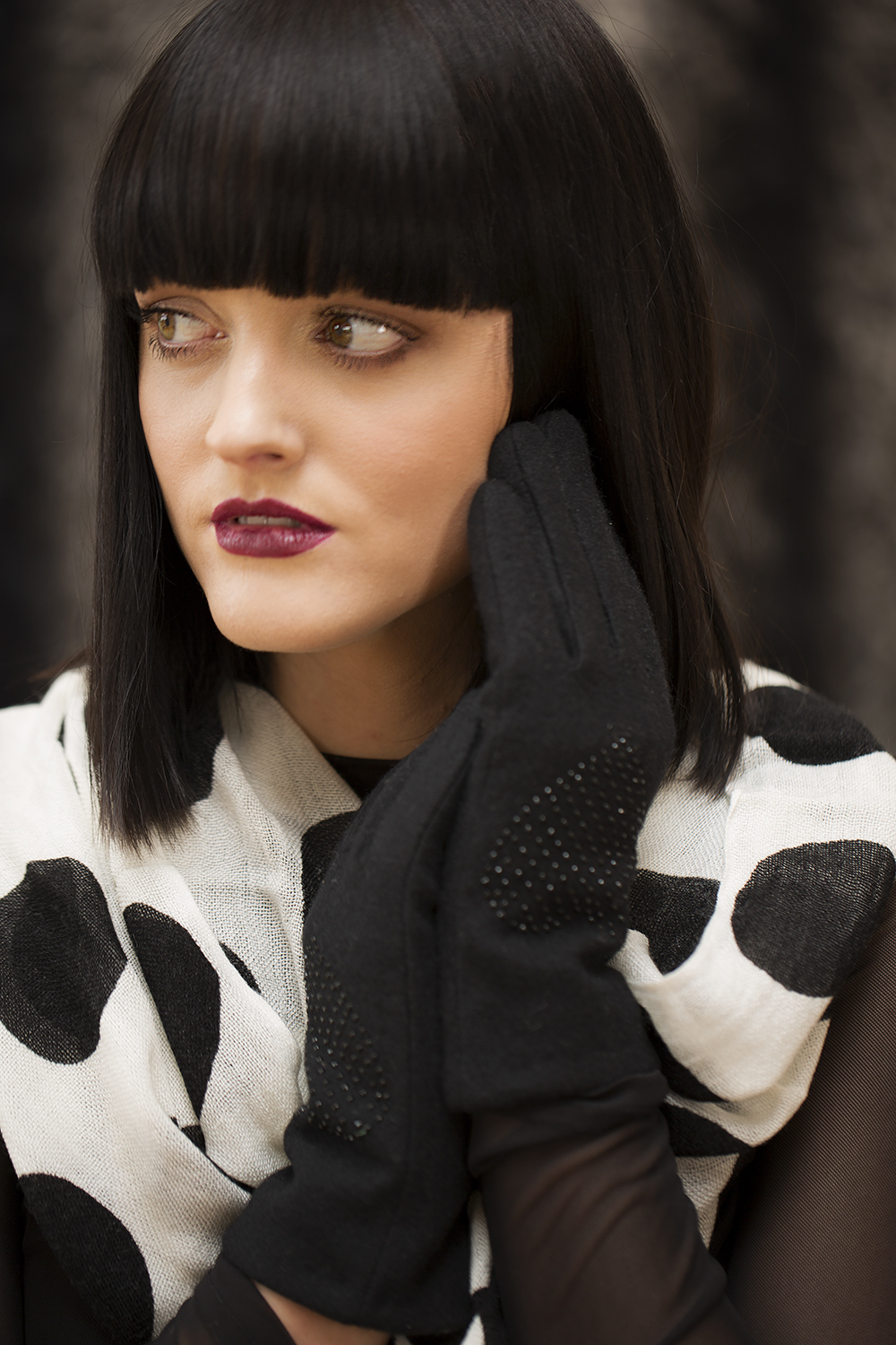 Pia Rossini gloves and Cat Baloo scarf from Little Boutique