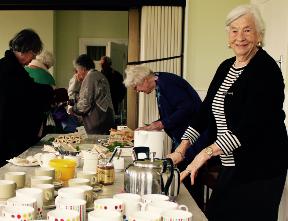 Thanks to Sally at the Auckland Garden Club for modelling the classic kiwi morning tea
