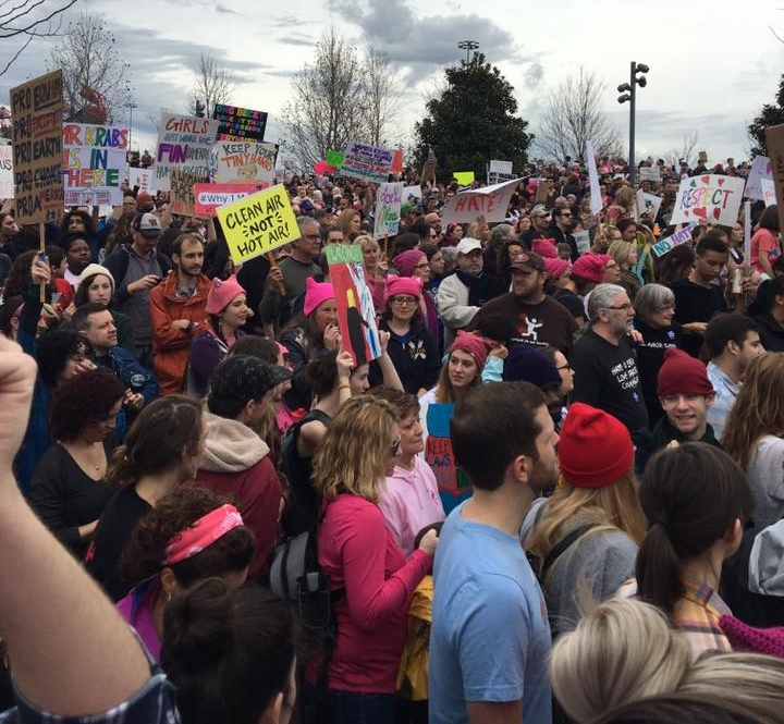 Some of the nearly 15,000 people that gathered in Nashville for the Women's March on 1/21/17.