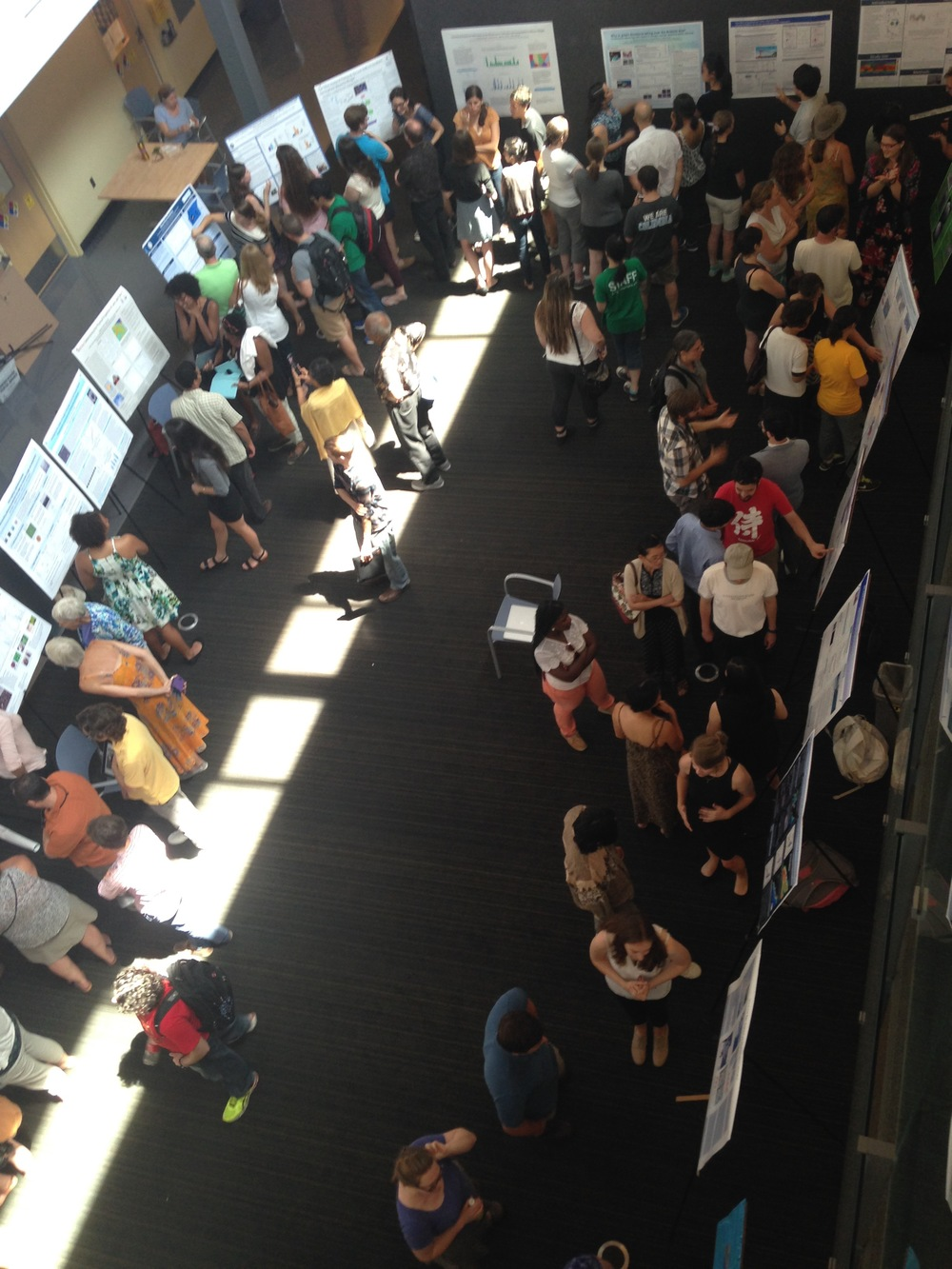 Intern poster session in Comer