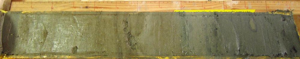 Split sediment core.  Credit: Grace Cushman