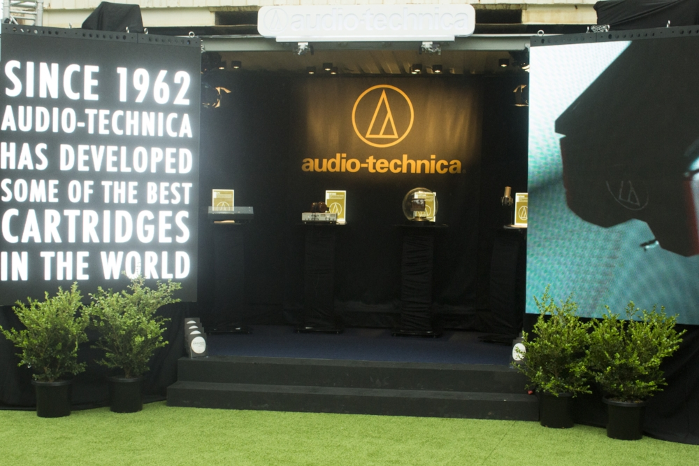 The Audio-Technica display.