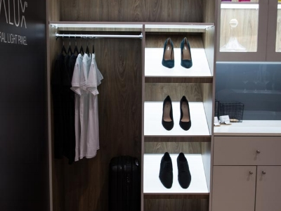 Wardrobe Shelving - Provide soft light to typically dimly lit wardrobe spaces. Easily installed with a drop-in fixture, or integrated with rebating.