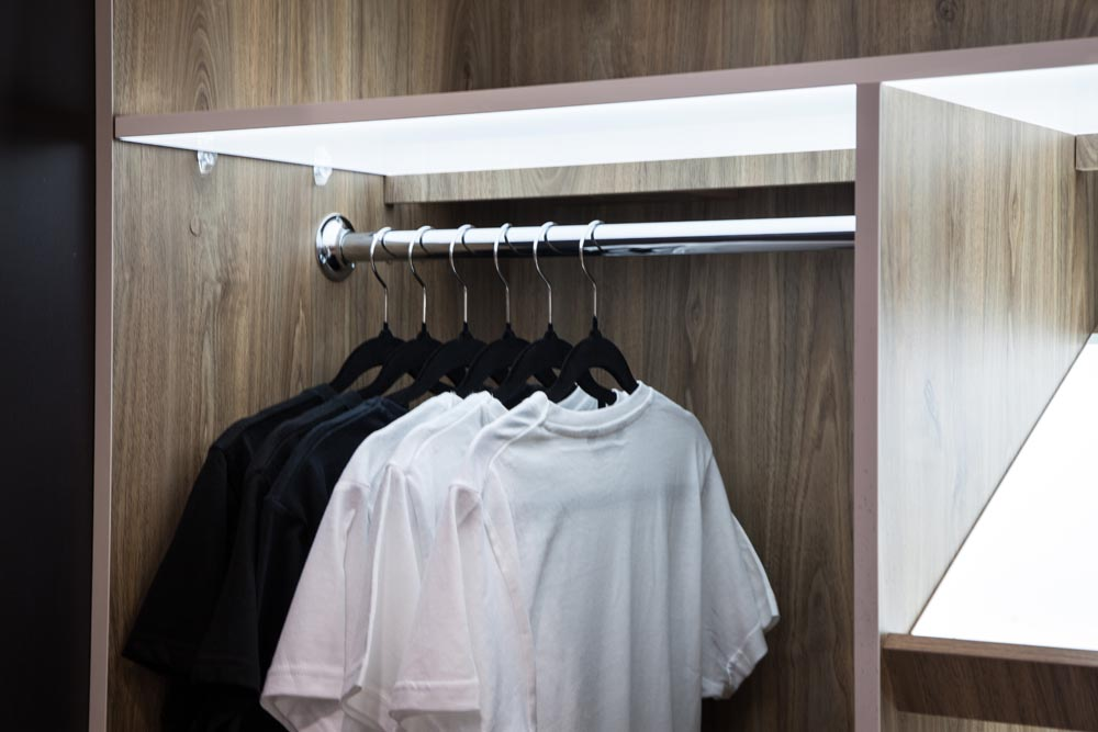 Wardrobe Shelving & Lighting