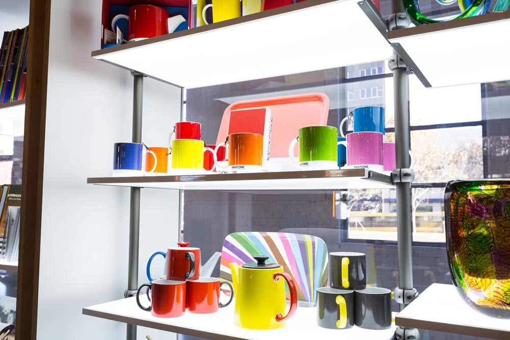 Double Sided Display Shelves